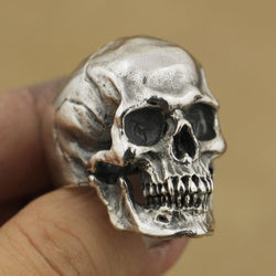 FDLK   Vintage Gothic Stainless Steel High Detail Skull Skeleton Ring Mens Biker Punk Ring US Size 7~14