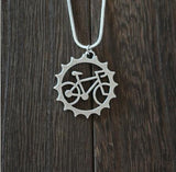 1pcs rider Bicycle pendant necklace  Beautiful Unique  Charm jewelry  outdoor riding friend commemorate ,witness of friendship - onlinejewelleryshopaus