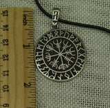 1pcs VALKNUT ODIN'S SYMBOL OF NORSE RUNIC PENDANT NECKLACE Viking Runes Vegvisir Compass Pendant - Dragon Soul Jewelry - onlinejewelleryshopaus
