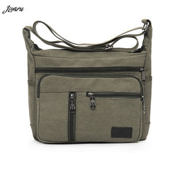 HOT Men Canvas Crossbody Bags Single Shoulder Bags Travel Casual Handbags message bags Solid Zipper Schoolbags for Teenagers