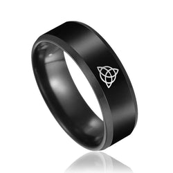 Tungsten vintage knot ring black punk stainless steel rings for men or women