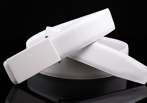 edition white smooth white men leather buckle belt for men leather belts Belts - onlinejewelleryshopaus