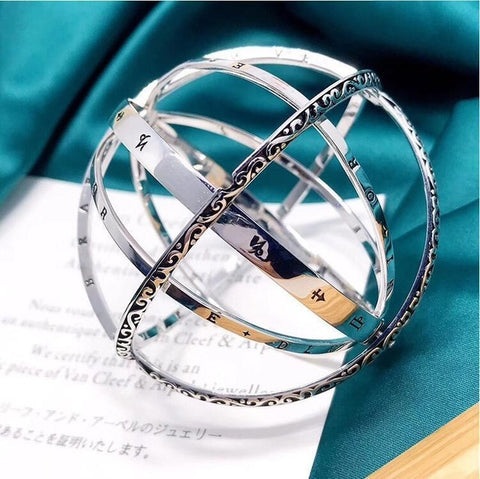 2019 new Astronomical Globe Sphere Pendant transformed Vintage Rings party club fashion wedding Engagement Rings gifts