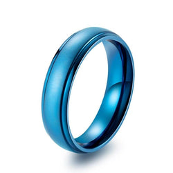 Fashion Tungsten Ring in Blue Black Color Wedding Rings for Women or Men