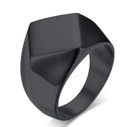 Geometric Finger Ring in black or gold couple rings men ring tungsten ring