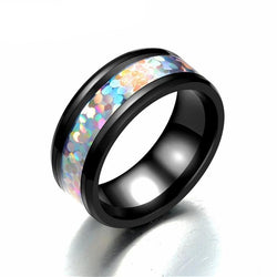 Black Tungsten Gold Engagement Ring Men Bling Bling Wedding Rings for Women