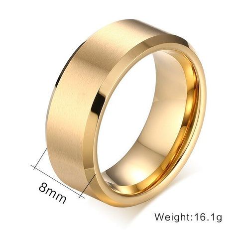 Tungsten Carbide Men Rings Silver Gold Black Simple Classics Drawbench for Wedding Rings Girl Boyfriend Jewelry Gift Wholesale