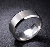 8mm Men's Rings 316 Titanium Steel Ring Scratch Resistant Tungsten Steel Ring For Party Jewelry