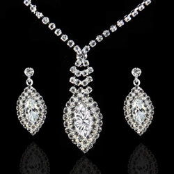 Rhinestone High Quality Fashion Jewellery Sets For Women 2017 Wedding Bridal