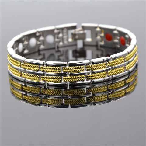 High Quality 316L Stainless Steel Bracelet Bangle Magnetic Germanium Health Chain Charms Men Jewelry