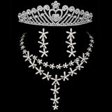 2016 Romantic Rhinestone Crystal Wedding Jewelry Sets Bridal Jewelry 3PCS Necklace Earrings Tiaras Crowns For Women Accessroeis - onlinejewelleryshopaus