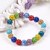 2 PCS/LOT Shamballa Bracelet for Women 13 Colors Shamballa Crystal Bead Bracelets Bangles for Girls - onlinejewelleryshopaus
