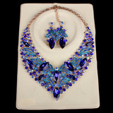 Luxury Bridal Jewelry Sets Wedding Necklace Earring For Brides Party Accessories Gold Plated Leaf Flowers Decoration Gift Women - onlinejewelleryshopaus