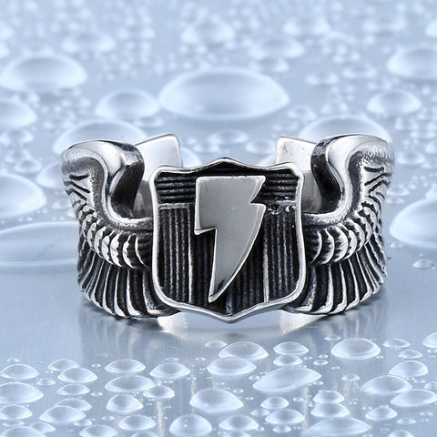 BEIER  Lightning wings Flying Tiger Men`s For Ring Stainless Steel Man's High Quality Jewelry BR8-354 - onlinejewelleryshopaus