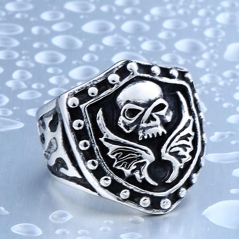 Beier Exclusive Sale Skull Ring For Man Stainless Steel Punk Man's Skull Skeleton Ring BR8-379 - onlinejewelleryshopaus