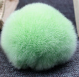 Fashion Fluffy Rabbit Fur Pom Pom Ball Keychain Women Trinket Bag Phone Key Chain Ring Car Key Holder Accessories Souvenirs Gift - onlinejewelleryshopaus