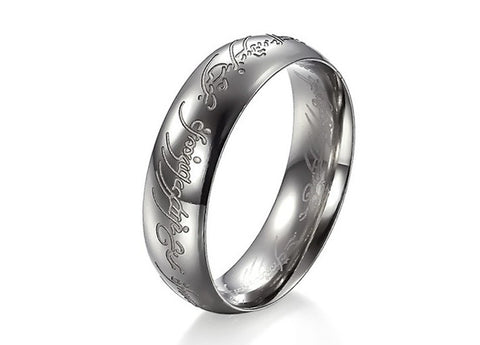 Free Shipping US Size 7/8/9/10/11/12 Width 6mm The titanium rings One Ring of Power rings for men - onlinejewelleryshopaus
