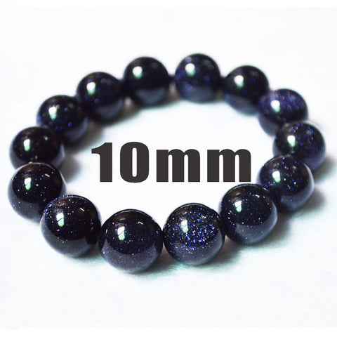 Women Men Jewelry Beads Charm Bracelets Fashion Jewelry Blue Gravel Natural Quartz Stone Bracelet HOT - onlinejewelleryshopaus