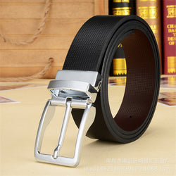 2016 Newest designer belts men high quality cow genuine leather vintage pin buckle ceinture bussiness men's belts - onlinejewelleryshopaus