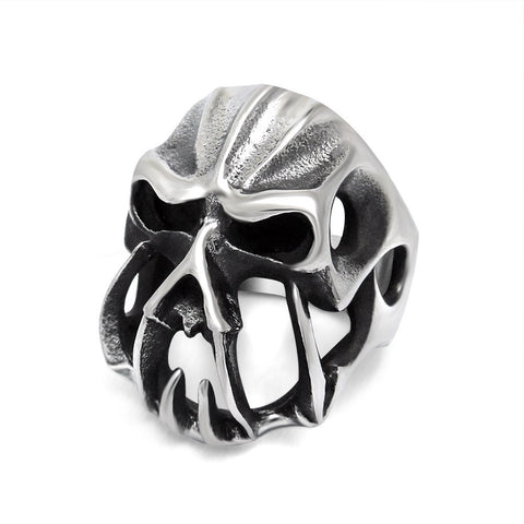 2016 Fashion Jewelry Stainless Steel Rings for Men Retro Punk Skeleton Personality Mens Ring Engraved Skull Rock Rings KR887 - onlinejewelleryshopaus