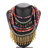 Luxury Maxi Bohemian Necklace Women Ladies Vintage Ethnic Rope Multilayer Weave Necklace Fun Women Accessories Jewelry @5k - onlinejewelleryshopaus