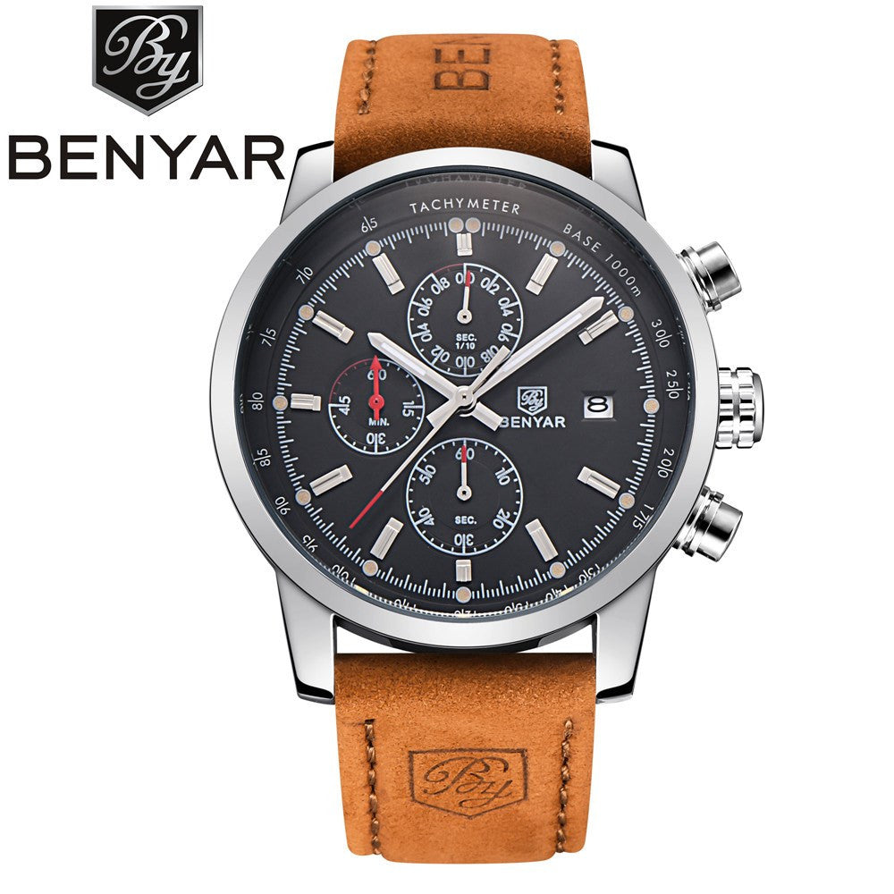 0a46b01ced3 BENYAR Mens Watches Top Brand Luxury Military Sport Wristwatch Chronograph  Dive Reloj Hombre Quartz Watch relogio