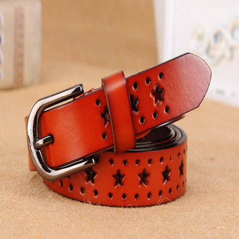 2016 New Fashion Genuine leather belt Cow skin belts women Top quality strap female for jeans - onlinejewelleryshopaus