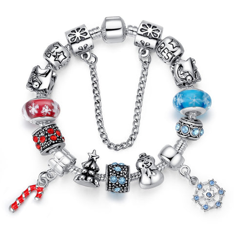 925 Silver Charm Bracelet & Bangle for Women With High Quality Murano  Beads DIY Christmas Gift A1806 - onlinejewelleryshopaus