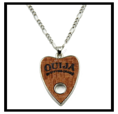 10Pcs Fashion Stainless Steel Wood Charms Ouija Jewelry Choker Chunky Vintage Bib Beads Chain Pendant Necklace Statement - onlinejewelleryshopaus