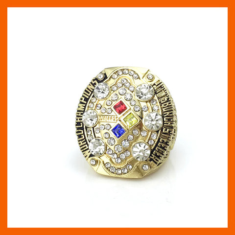 Drop shipping High Quality Gold Plated 2008 Super Bowl Replica Pittsburgh Steelers Championship Ring for Fans - onlinejewelleryshopaus