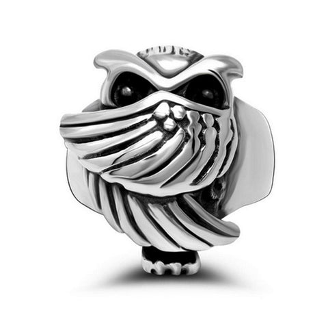 New Arrival Fashion Mens Punk Vintage Jewelry Stainless Steel Clever Owl Rings Lovely Animal Ring Cool Man Birthday Gifts - onlinejewelleryshopaus