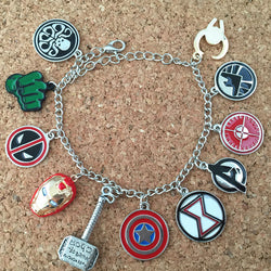 Freeshipping 1pcs a lot The Avengers charm bracelet AKSS01 - onlinejewelleryshopaus