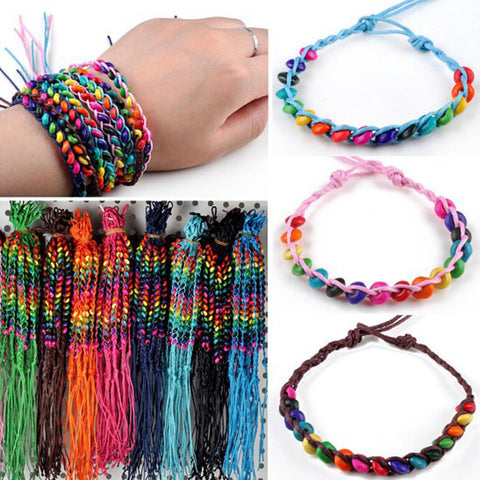 50Pcs Lots Friendship Beads Handmade Bracelets Cuff Bangles For Women Girls Charm Jewelry Accessories Wholesale - onlinejewelleryshopaus