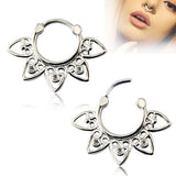 1 Pc Fashion Women/men Septum rings 16 Styles Clickers Septums 316L Surgical Steel Horseshoe Nose Clips Body Piercing Jewelry - onlinejewelleryshopaus