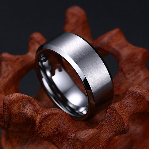 Vnox Classic Tungsten Wedding Ring for Men Not Rust Top Quality - onlinejewelleryshopaus