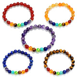 High Quantity Natural stone 7 Chakra Healing Balance Beads Bracelet For Men Women Reiki Prayer Stones - onlinejewelleryshopaus
