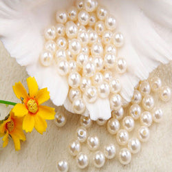 1000pcs Imitation Pearl Beads 8mm Diy Craft Beads Pearls For Decoration Jewelry Making Perolas Para Bijuterias Crafts Materials - onlinejewelleryshopaus