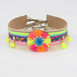 Women's Bohemian Waist Belt Tassel Boho Fringed Shell Accessories Female Decoration Belt for Dress - onlinejewelleryshopaus