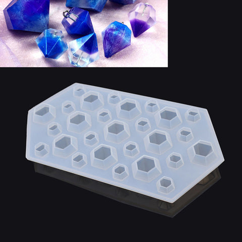 1 piece Clear Silicone DIY Diamond Mold Mould Handmade Jewelry Making Tools Craft - onlinejewelleryshopaus