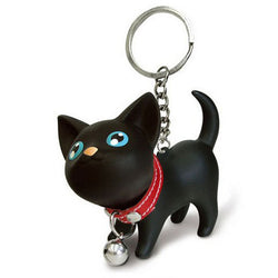 SIF Cat Kitten Keychain Keyring Bell Toy Lover Key Chain Rings For Handbag APR - onlinejewelleryshopaus