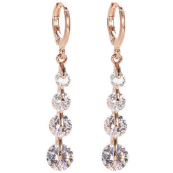 8 colors Fashion Long Earrings Gold Plated Filled Crystal CZ Diamond Drop Earrings Party/Wedding Jewelry For Women 2016 new - onlinejewelleryshopaus
