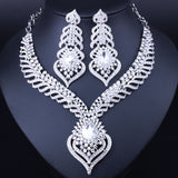 Free shipping,2016 latest new african costume jewelry sets silver plated rhinestones bridal jewelry sets fashion wedding jewelry - onlinejewelleryshopaus