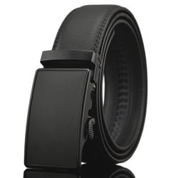 New No Magnet business Fashion Automatic Buckle Men's belt Genuine Luxury leather belt black belts for men Q6 - onlinejewelleryshopaus