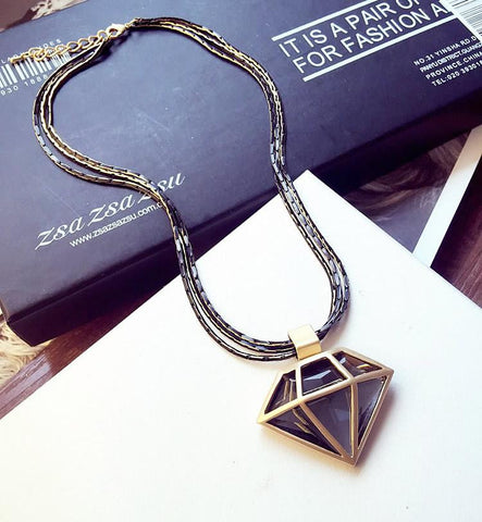 2016 New Arrival Women Pendant Necklaces Europe And The   Crystal Personality Sweater Chain - onlinejewelleryshopaus