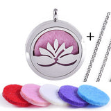 1Pcs Tree Aromatherapy Essential Oils 316L Stainless Steel Magnetic Perfume Diffuser Floating Locket Pendant Necklace - onlinejewelleryshopaus