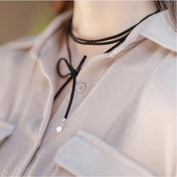 New Korean Fashion Personality Wild Tidal Range Of Sub-rope Necklace Imitation Pearl Necklace Pendant Diy Creative Energy Choker - onlinejewelleryshopaus