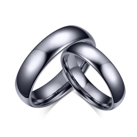 Tungsten Ring Quality Couple Ring for Lover 6mm/4mm Width Wedding Band Ring for Women and Men Full Size - onlinejewelleryshopaus