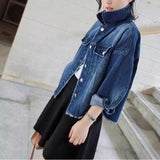 Brand Design 2016 Vintage Harajuku Women Denim Oversized Short Jackets Loose Female Denim Outerwears Chaquetas Mujer