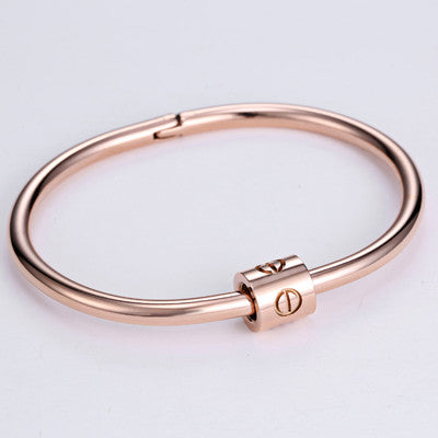 b4cad912f801 16.5cm New LUST LTD Bangles Charming Nail Bangle Stainless Steel Top  Quality 3 Colors Bracelet