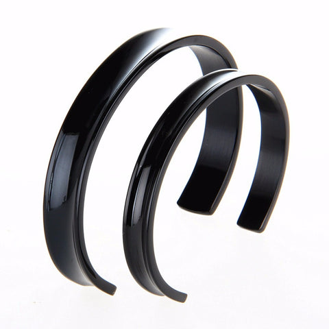 2016 New Fashion Novelty Stainless Steel Cuff Bangle For Women For Men  Lovers Black Gold Silver 119b5d7cf76